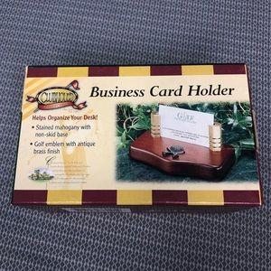 Other - NIB Golf Detail Business Card Holder